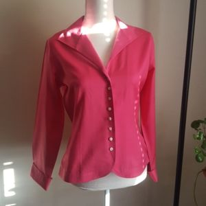 Talbots Pink Stretch Unlined Blazer/Blouse…